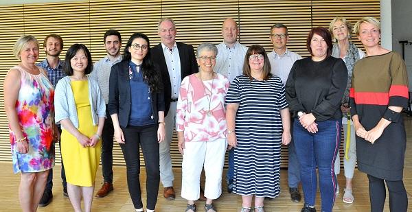 Treffen der MATMED Projektpartner aus den Niederlanden, UK und Deutschland am 17. und 18. Juni beim Partner CeNTech in Münster (Fotoquelle: CeNTech/Martin Rühle)